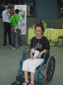 Ms. Charito Manglapus, President, Cerebral Palsied Assn. of the Philippines