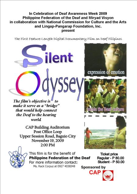 Silent Odyssey poster