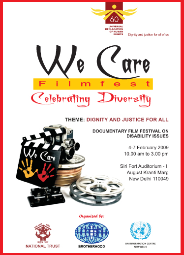We Care Filmfest 2009 Poster-Invitation