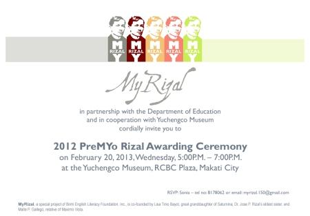 2012 PreMYo Rizal e-invite