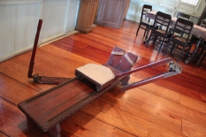 """Rowing """"equipment"""" used by the President to exercise"""