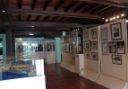 The exhibits on the ground floor of the house