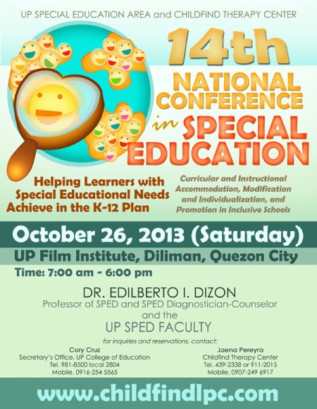 Poster - 14th Natl SPED Conference