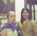 """With Ms. Virgie """"Aling Barang"""" Moreno"""