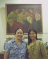 """With Ms. Clara Lapus of """"Mama Sita'"""