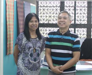 With Professor Regalado Jose, brother of Rico
