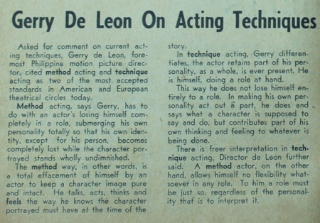 Apollo_De Leon on Acting