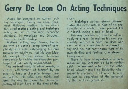 Apollo_De Leon on Acting