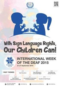 INTERNATIONAL DEAF Wk