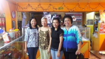 Inside Edna's Food House with Aling Edna, Alex and Febe Sevilla