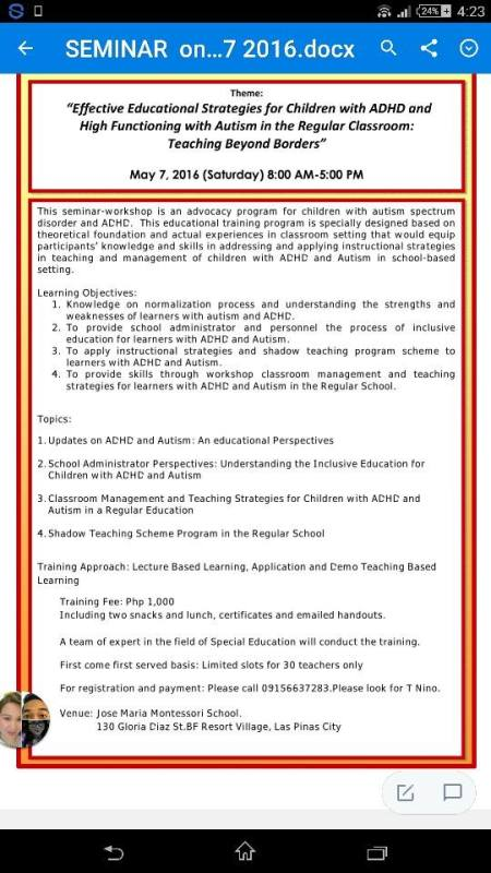 Educational Strategies For Adhd Children And High Functioning Pwas