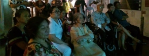 Ms Moreno with former UP President Emmanuel Soriano watch the film