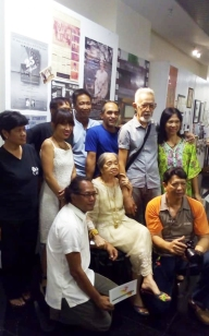 Present and former staff of the UPFilm Center. Seated is Ms Virgie Moreno