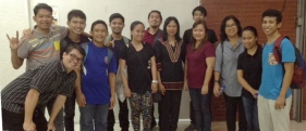 With the DLS-CSB School of Deaf Education and Applied Studies students and faculty