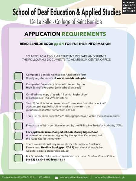 APPLICATION REQUIREMENT