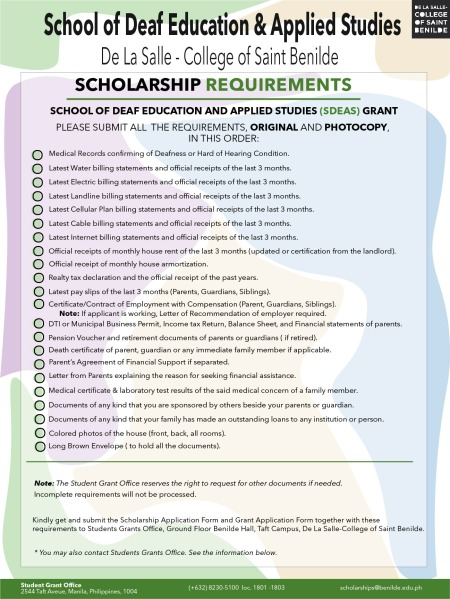 SCHOLARSHIP REQUIREMENT